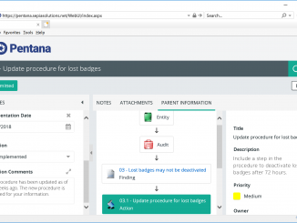 Pentana - Web interface: submitting action updates